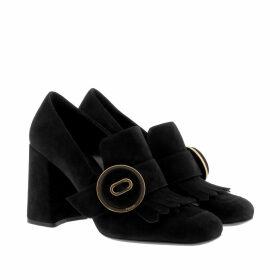 Prada Pumps - Calzature Donna Camoscio Suede Pumps Nero - black - Pumps for ladies
