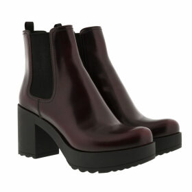Prada Boots & Booties - Heeled Chelsea Boots Granato - red - Boots & Booties for ladies