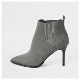 River Island Womens Grey pointed heeled ankle boots