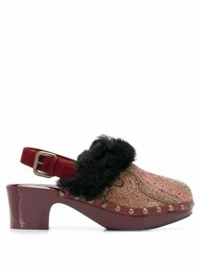 Etro paisley mules - Red