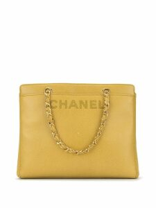 Chanel Pre-Owned CC chain hand bag - Yellow