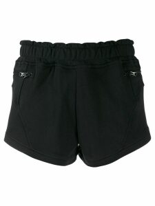 adidas by Stella McCartney piqué jersey shorts - Black