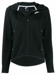 Nike logo zip up hoodie - Black