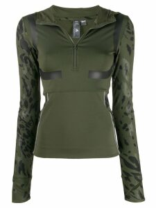 adidas by Stella McCartney printed hooded top - Green