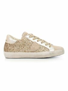 Philippe Model Sneakers Low Gold Glitter
