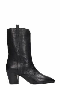 Laurence Dacade Simona Ankle Boots In Black Leather