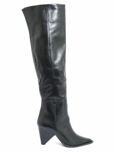 Aldo Castagna Black Leather Desi High Boots