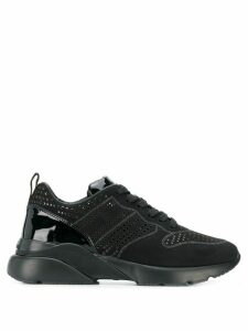 Hogan perforated sneakers - Black