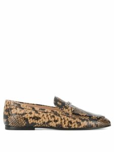 Tod's snake effect loafers - Brown
