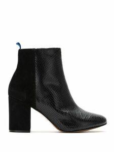 Blue Bird Shoes Bota Duo Couro Python - Black
