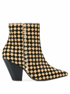 Toga Pulla checker print studded boots - Yellow