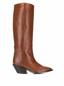 A.F.Vandevorst knee-length pointed boots - Brown