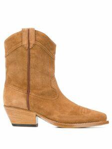 Vic Matie western suede boots - NEUTRALS