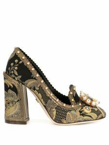 Dolce & Gabbana Jackie leaf brocade pumps - Black