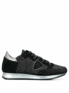 Philippe Model glitter embellished low top sneakers - Black