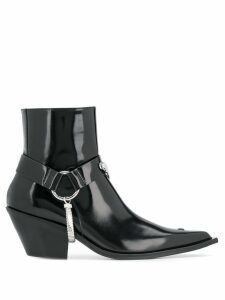 Misbhv harnessed leather boots - Black