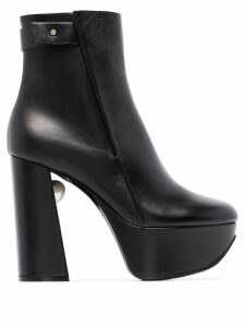 Nicholas Kirkwood Miri 120mm platform boots - Black