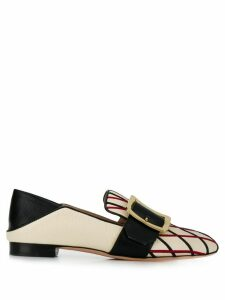 Bally embroidered loafers - White