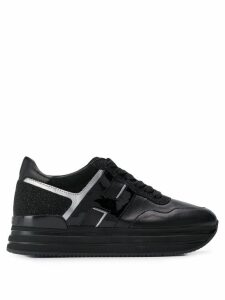 Hogan rhinestone sneakers - Black