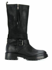 Strategia zip-up mid-calf boots - Black