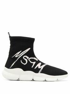 MSGM logo sneakers sneakers - Black
