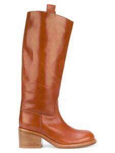 A.F.Vandevorst mid-calf boots - NEUTRALS
