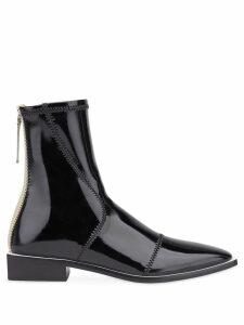 Fendi patent leather ankle boots - Neutrals