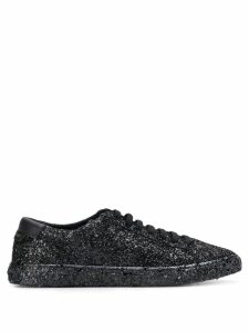 Saint Laurent Andy sequinned sneakers - Black