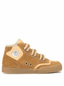 Mm6 Maison Margiela high-top sneakers - Brown