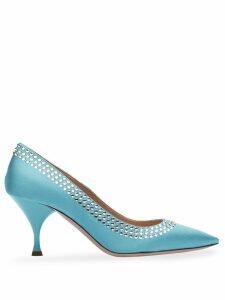 Miu Miu crystal-embellished 75mm pumps - Blue