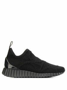 Salvatore Ferragamo wave sole sneakers - Black
