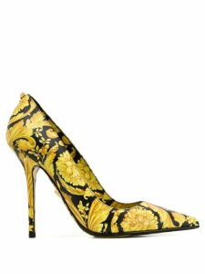 Versace barocco print pumps - Black