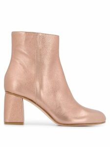RedValentino RED(V) metallic ankle boots - PINK