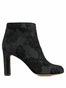 Chie Mihara brocade ankle boots - Black