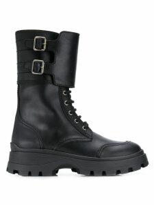 Miu Miu buckle boots - Black