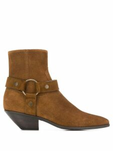 Saint Laurent West Harness ankle boots - Brown
