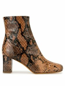 Maryam Nassir Zadeh python Agnes boots - Brown