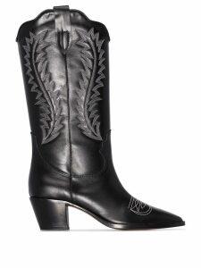 Paris Texas 55mm embroidered cowboy boots - Black