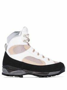 Diemme Civetta panelled hiking boots - White