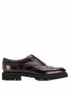 Church's commando sole derby shoes - Red