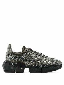 Jimmy Choo Diamond crystal embellished sneakers - Black