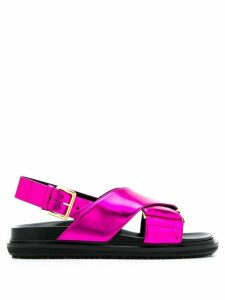 Marni cross-over strap sandals - PINK