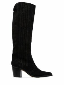 GANNI knee-high boots - Black