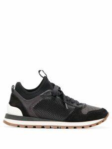 Brunello Cucinelli colour block sneakers - Black