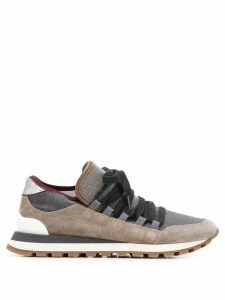 Brunello Cucinelli colour-block sneakers - Grey
