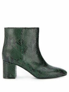 Twin-Set snake print ankle boots - Green