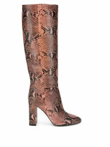 Twin-Set snake print knee boots - Pink