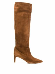 Red Valentino RED(V) under-the-knee slip-on boots - Brown