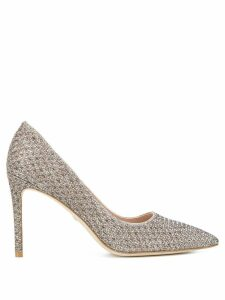 Stuart Weitzman Leigh 95 woven pumps - Metallic