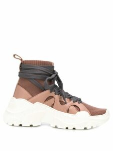 Agnona high top sock-style sneakers - Neutrals